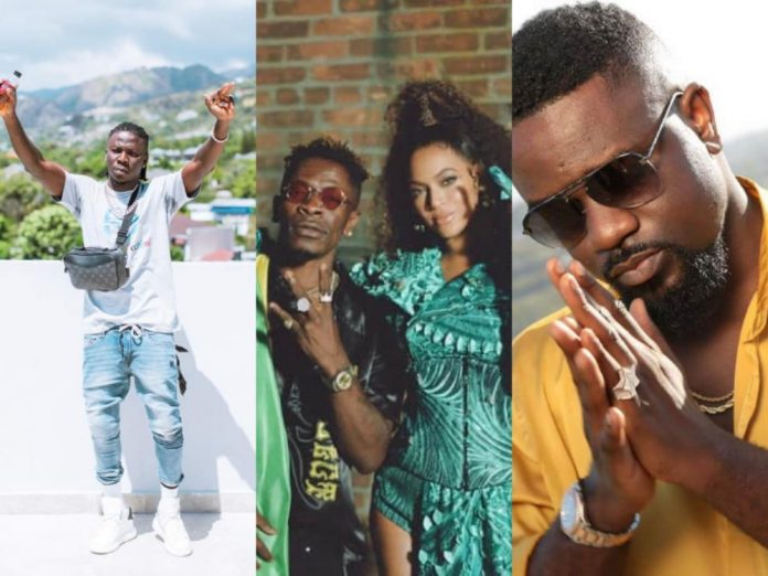 Stonebwoy and Sarkodie Reacts To Shatta - Beyonce Already Video